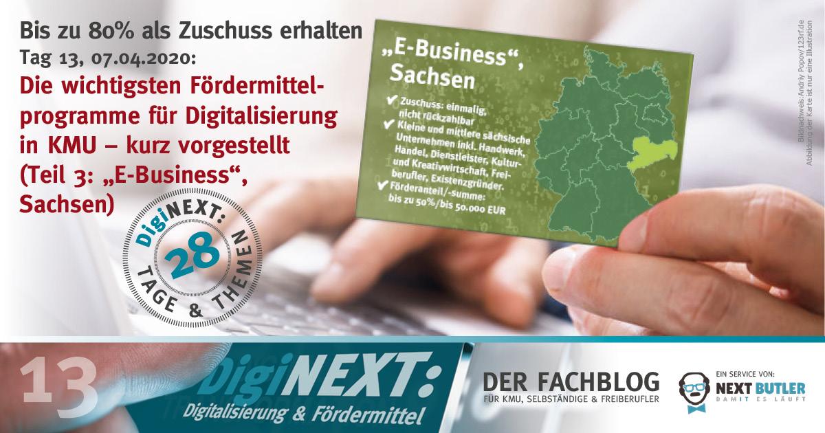 Die wichtigsten Fördermittelprogramme für die Digitalisierung in KMU – kurz vorgestellt (Sachsen)